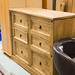 Waxed pine 6 drawer chest large qty in stock E225