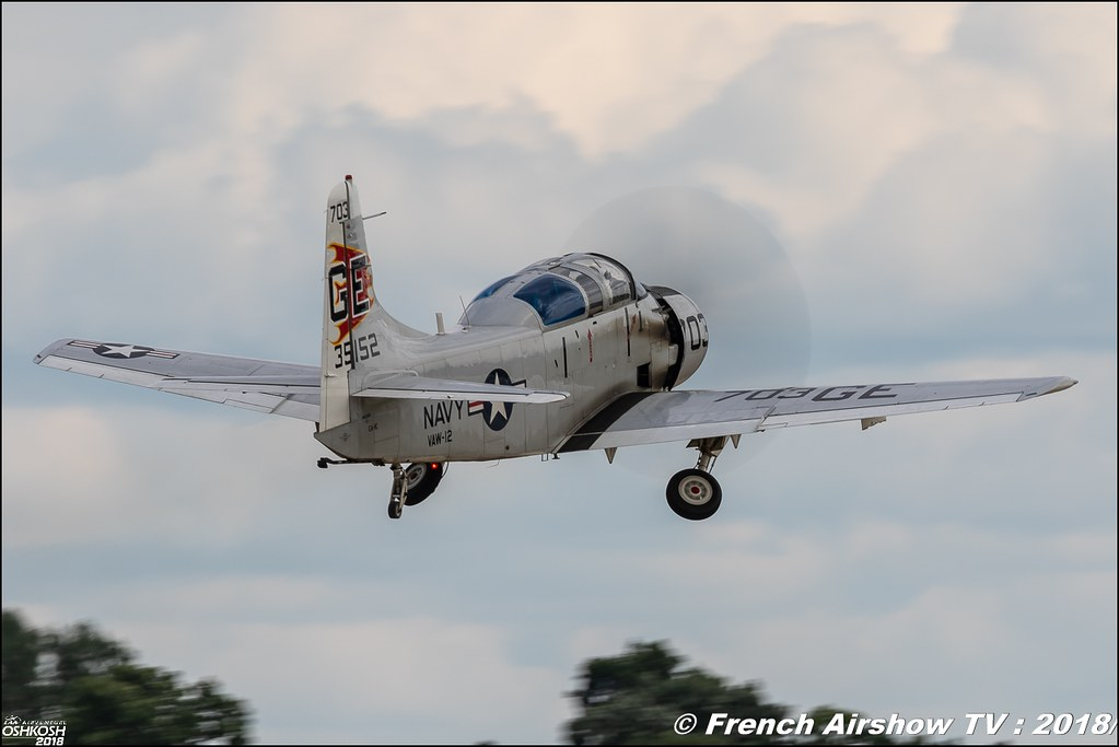 N65164 Douglas EA-1E Skyraider EAA Air Venture Oshkosh 2018 Wisconsin Canon Sigma France contemporary lens Meeting Aerien 2018