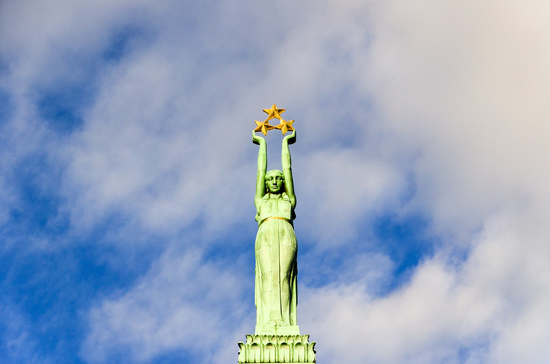 The Freedom monument, Riga