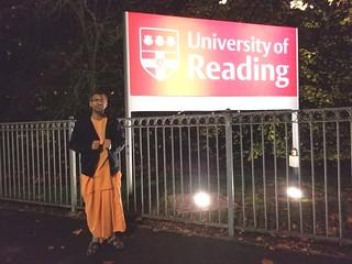 Talk @ University of Reading, London, Nov, 2018. | by Keshav Anand Das