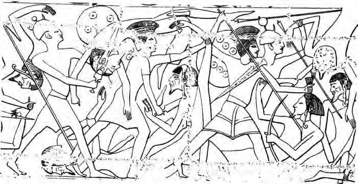 Relief-sea-peoples-fighting-for-Ramses-III-in-Lybian-campaign-ayl-1
