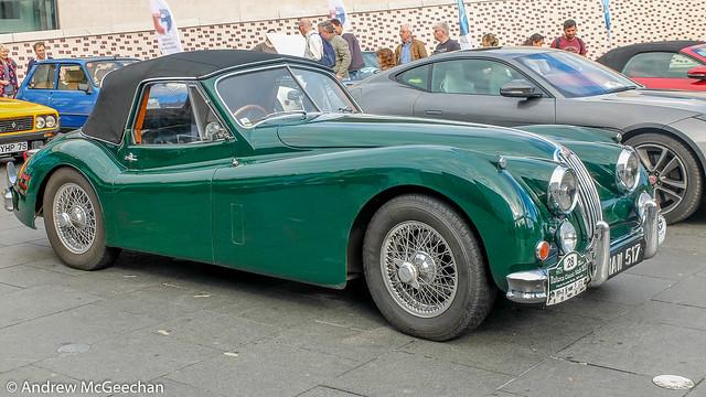 1957 Jaguar XK140.