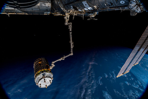 Releasing JAXA's HTV7 cargo vehicle from the ISS | by Astro_Alex