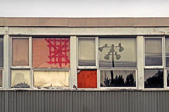 School windows vs. football practice