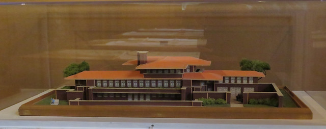 Robie House model: arch Frank Lloyd Wright