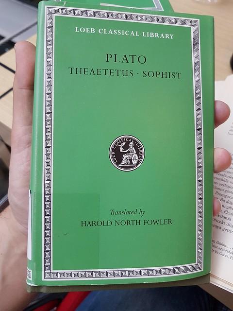 #Plato #Theaetetus #Sophist #Loeb #Greek