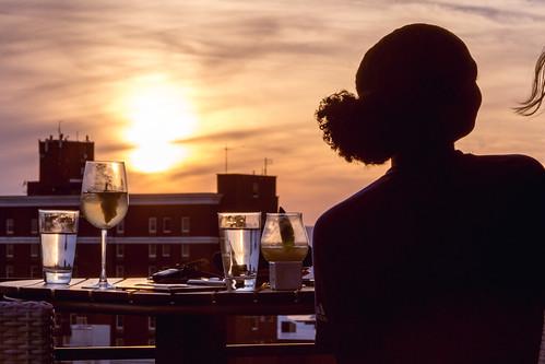 sunset sun silhouette asheville