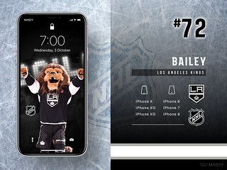 #72 Bailey (Los Angeles Kings) iPhone Wallpapers | by Rob Masefield (masey.co)