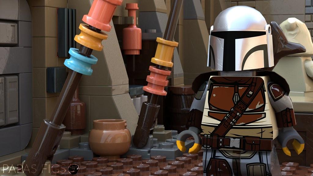 The Mandalorian, Custom Lego Minifigure | Skipping 4,000 yea… | Flickr