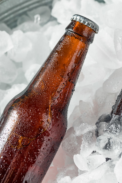 Cold Icy Beer Bottles