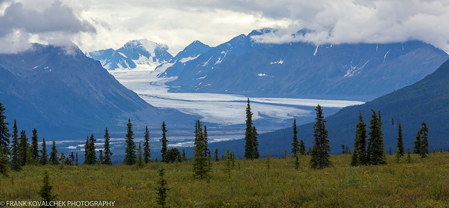 Glacier view from the Glenn Highway - the rain started shortly afterwards