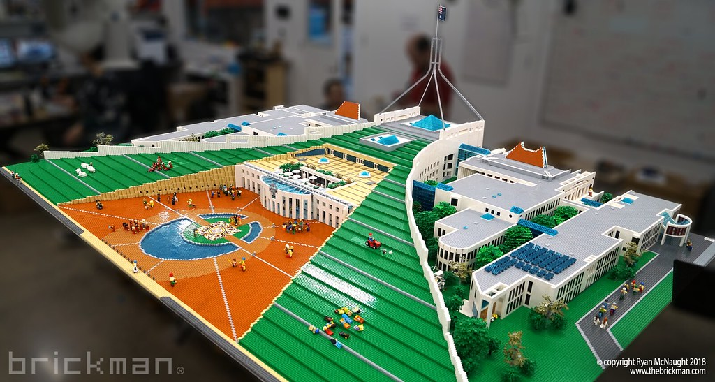 LEGO® brick Australian Parliament House | At 3 6 wide by 2 4… | Flickr