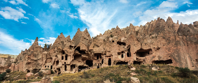 CAPPADOCIA Göreme National Park and the Rock Sites. World Heritage List. Zelve Open-Air Museum. Turkey