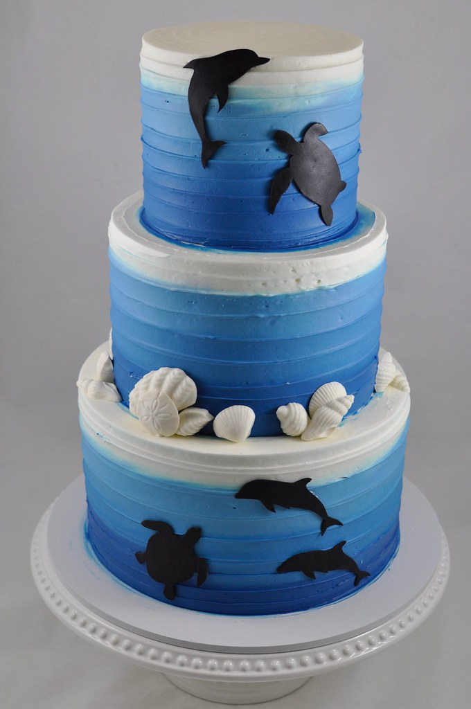 Awe Inspiring Under The Ocean Themed Birthday Cake Jenny Wenny Flickr Funny Birthday Cards Online Aeocydamsfinfo