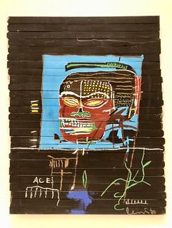 Sans titre (Word on Wood), 1985, Jean-Michel Basquiat