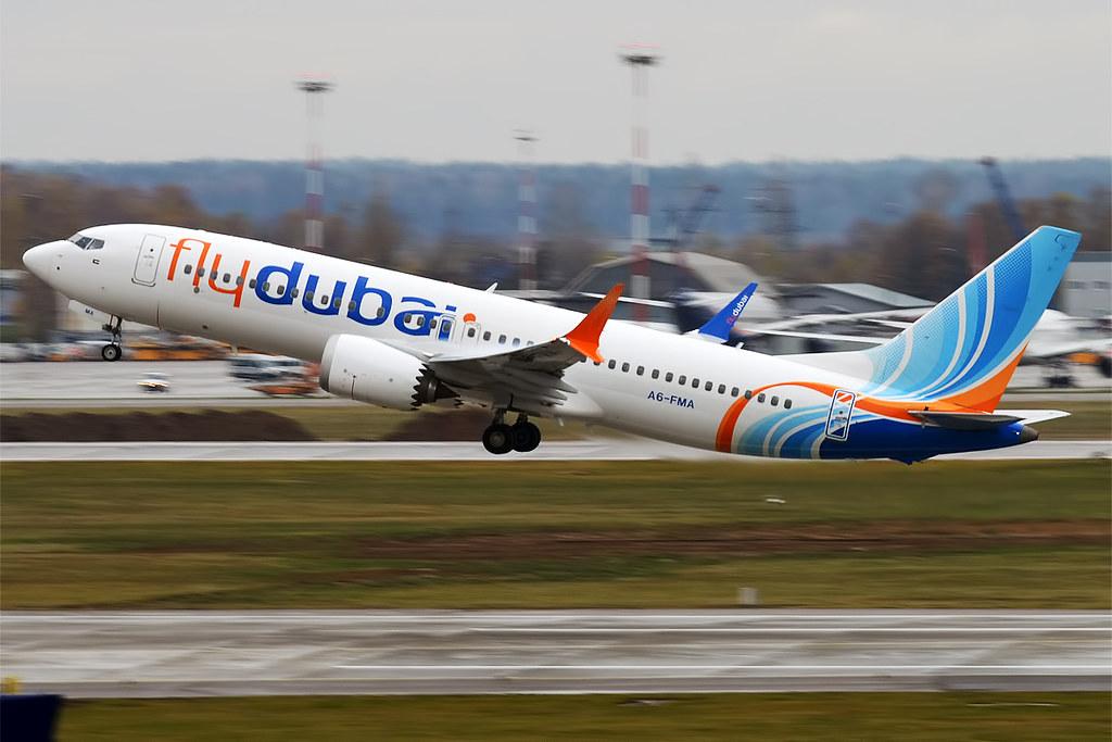 FlyDubai, A6-FMA, Boeing 737-8 MAX