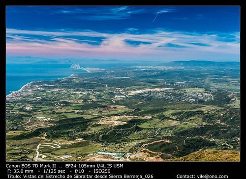 The Strait of Gibraltar from Sierra Bermeja | by __Viledevil__