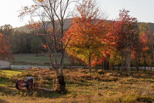 farm tractor sunset autumn color warm rural canon6dmarkii leominster