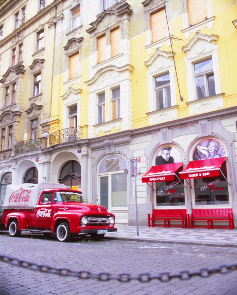 Coca-Cola Pick up Truck, Prague, Czech Republic, Mamiya RZ