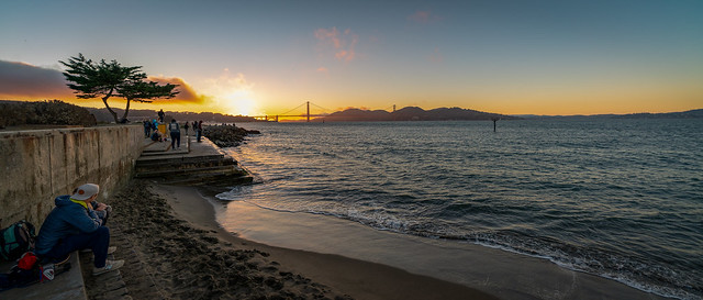 Golden Gate Sunset Panorama