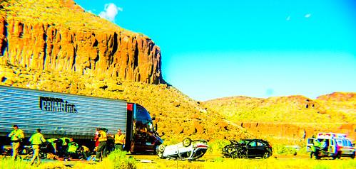 i40 mcconnio accident kingmancanyon landscape sky arizona rte66
