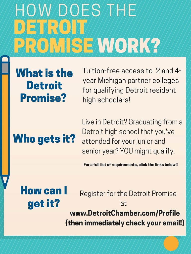 Flyer answering How does the Detroit Promise work?