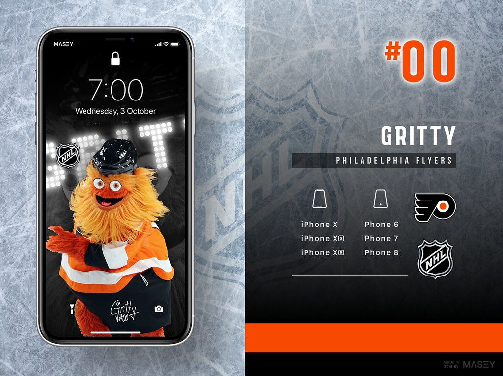 Gritty (Philadelphia Flyers) iPhone Wallpaper