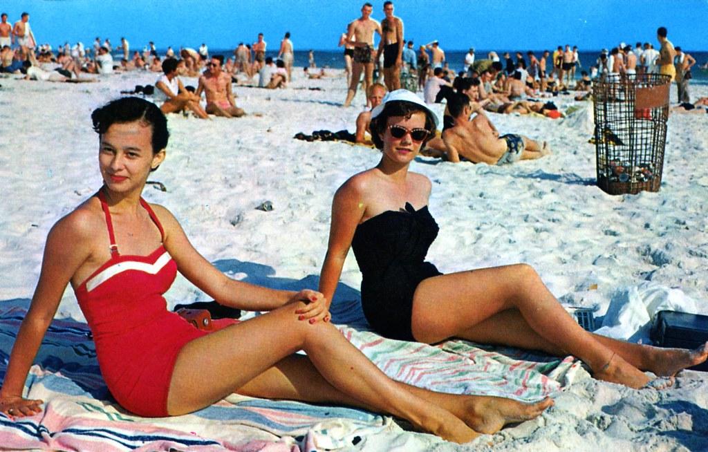 Sunbathers on the Beach North Truro MA | postmarked 1964 | William ...