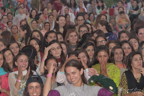 Passu, Gojal, Upper Hunza - Local Wakhi young ladies at the Face Mela - Some commentators from Pakistan could not believe they were locals.It illustrates the ignorance and the culture gap which allows fanatic speeches against this minority