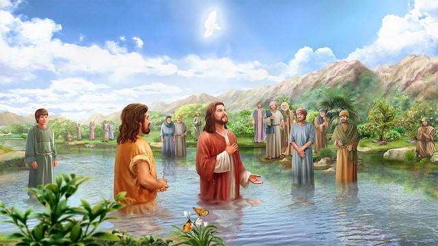 Die Taufe Jesu Matthäus 3 13 Zu Der Zeit Kam Jesus Aus G