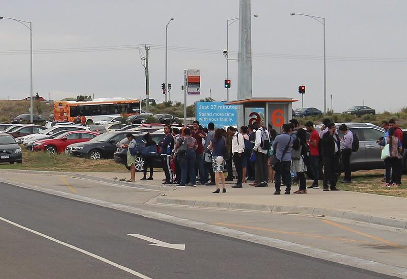 Tarneit station bus stop