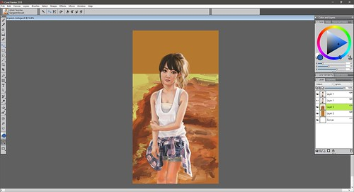 background Sayu Corel Painter V