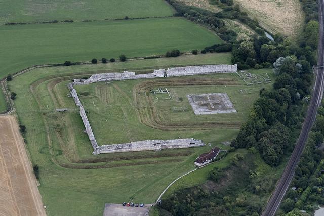 Richborough Roman Fort And Amphitheatre aerial