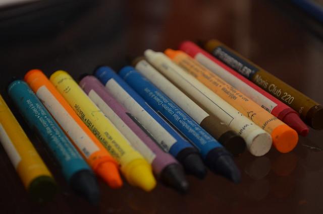 Wax coloring pens