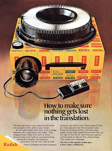 Kodak films advertisement.