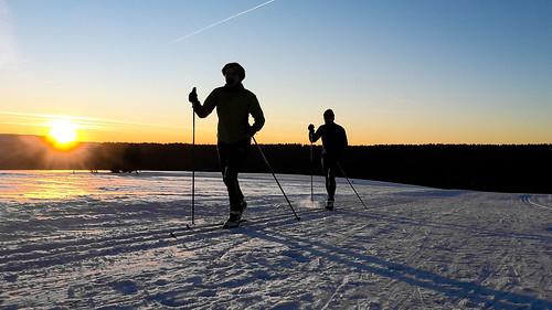 langlauf neustadt am rennsteig winter ski sonnenuntergang nordisch schnee eis kalt samsung s5 mini sunset