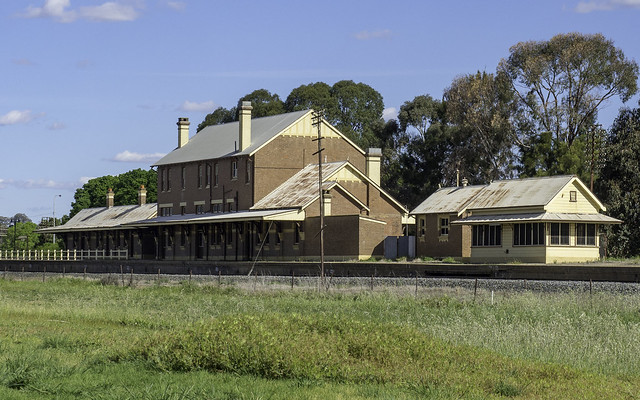 Cootamundra West Railway Station, disused almost since being built in 1911