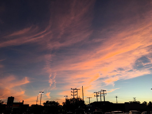 pikesville maryland clouds sky iphone silhouette poles cmwd