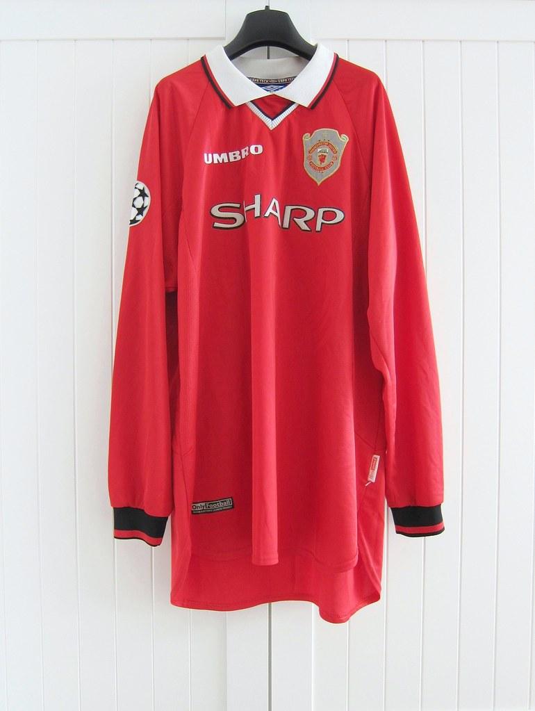 e3cbe3f6a10 ... 1997-1999 Manchester United Home Ole Gunnar Solskjaer Champions League  Match Worn Shirt