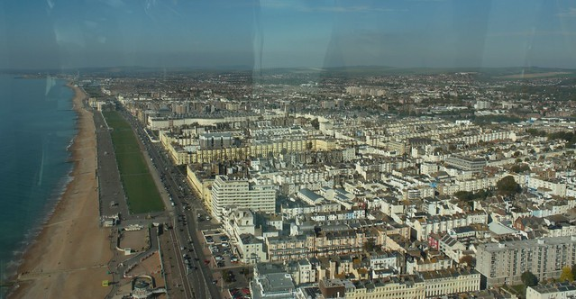 Brighton view from i360
