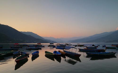 phewatal phewalake nepal sunset evening tranquil canoneosm5 canonefm1122