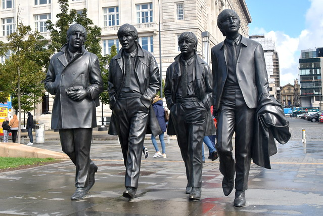 The Fab Four (The Beatles)Liverpool, Merseyside, Lancashire.