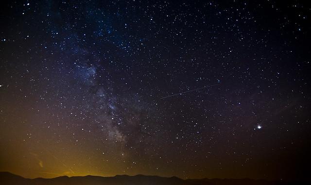 La Via Lactea sobre el Cadí / Milky Way above the Cadí