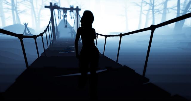 Ella cruzó el camino sola ...