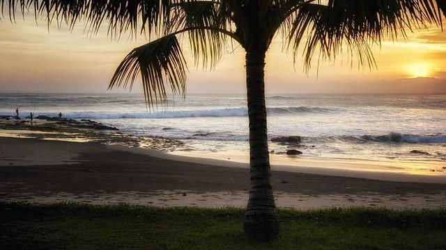 beach in sundown on Bali, Indonesia