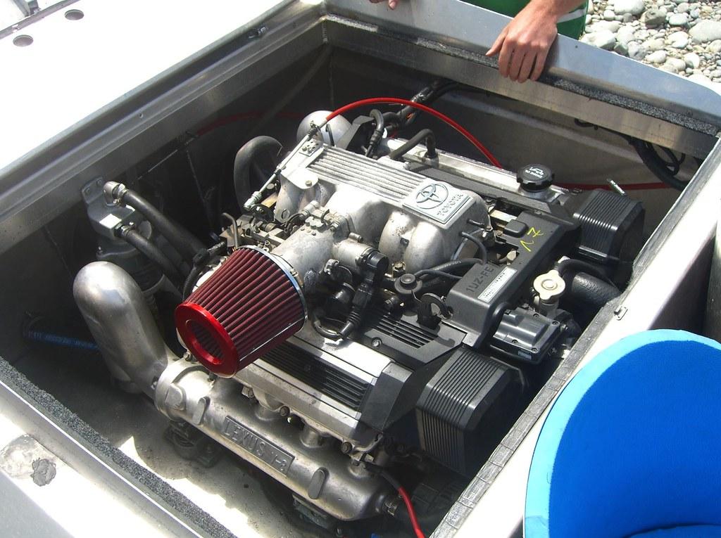 090117 Lexus V8 in Mark's jet boat | Here is the very same b… | Flickr