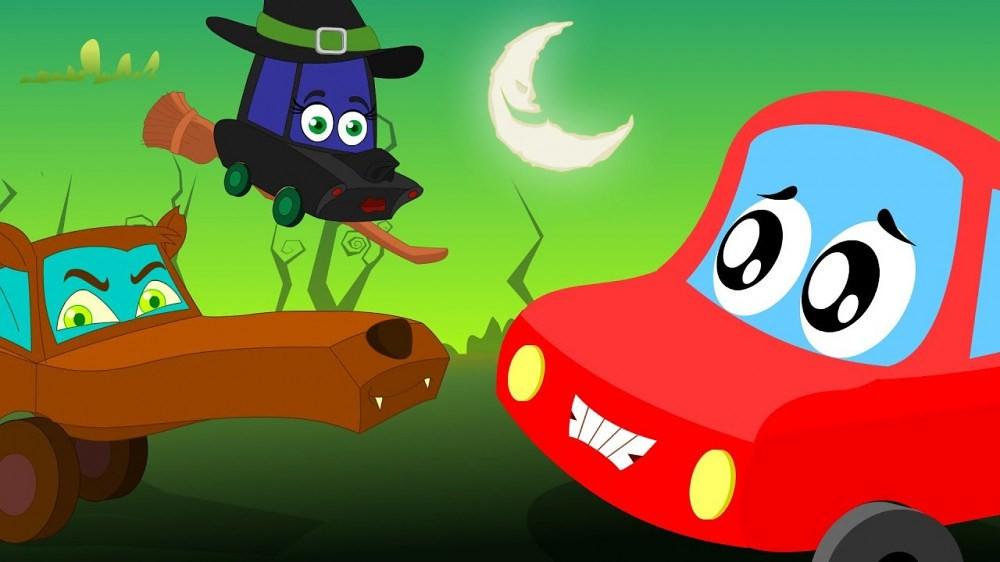 Little Red Car >> Halloween Monsters Little Red Car Car Cartoons For Kid