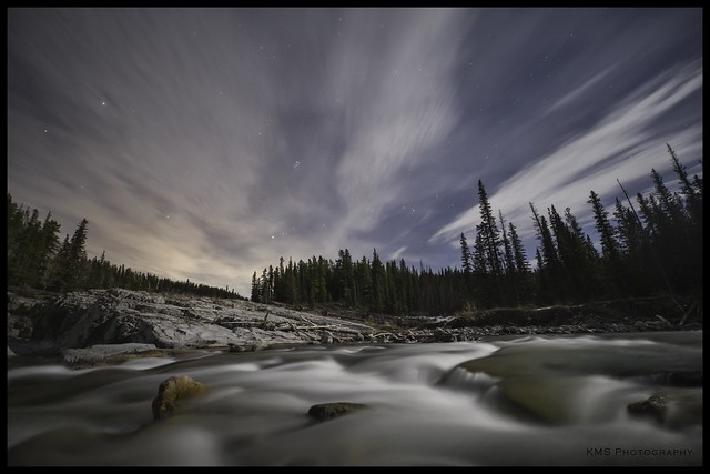 Elbow Falls Nightscape