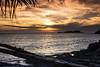 Atardecder nuboso en la costa de Ibiza by ibzsierra