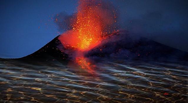 Etna inside the sea